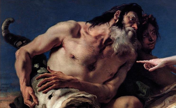 Particolare tratto da 'Nettuno offre doni a Venezia' di Giovanni Battista Tiepolo (Archivi Alinari)